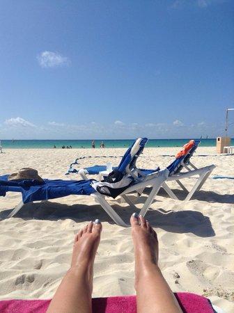 Sandos Playacar Beach Resort: Sandos beach June 2013