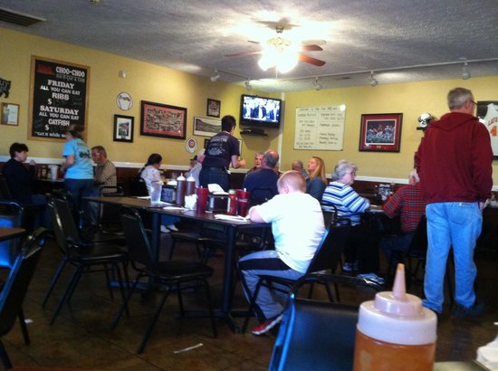Choo Choo BBQ & Grill: Some of the best fixings you'll ever put in your mouth. They've got a great following.