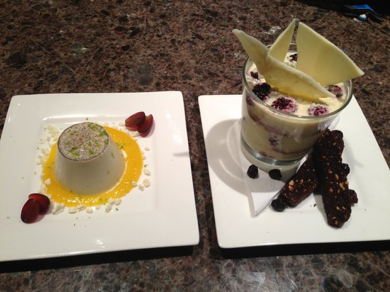 Eagles Nest: The private chef served us desserts