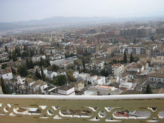 Hotel Alhambra Palace: La vista desde balcon