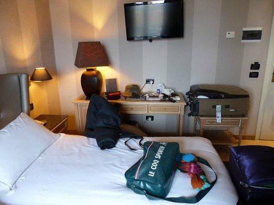 Hotel Ambasciatori: Ubicación de la TV algo incómoda