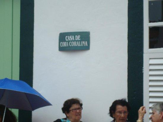 Placa sinalisadora   foto de museu casa de cora coralina, goiás ...