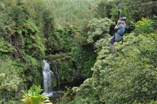 Skyline Eco Adventures - Akaka Falls: zip over smaller falls