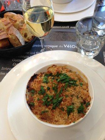Restaurant Le Vélocipède : Crumble de poisson aux petits légumes