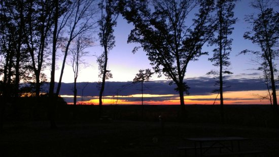 Happy Hills Campground and Cabins: The view form site #46. Our site