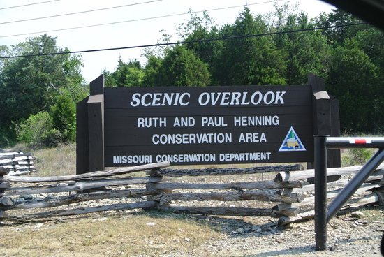Ruth and Paul Henning Conservation Area: scenice overlook sign