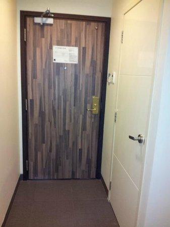 Value Hotel Thomson Room door u0026 Bathroom too close for comfort that hit each other & Room door u0026 Bathroom too close for comfort that hit each other when ...
