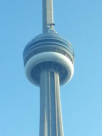 The Ritz-Carlton, Toronto: Zoomed in CN Tower from room