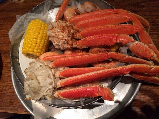 Double bucket crab/ shrimp Folly Beach Crab Shack