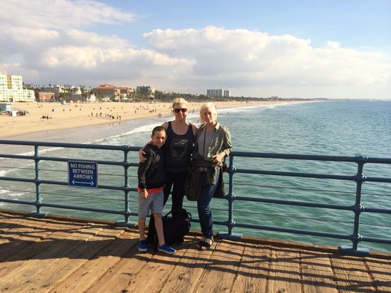 Huntley Santa Monica Beach : Standing on the Santa Monica Pier (which is getting renovated by the way)