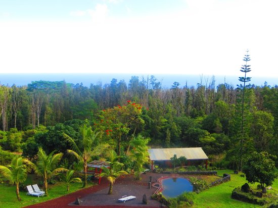 Pele's Breath: Backyard View of Hawaii's only Lava Heated Steam Sauna and Ocean Views