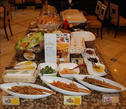 Solvita Hotel Naha: 朝食コーナー