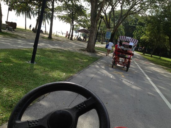 East Coast Park : losing to a family bike