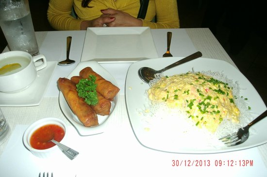 Wooden Spoon : Spring Rolls and Signature Dish Crab Fat Pancit