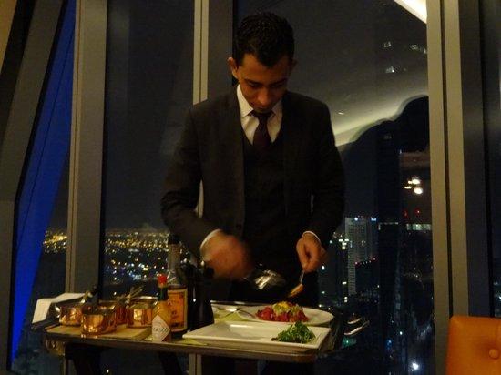 La Varenne: Steak Tartare excellently prepared at the table.