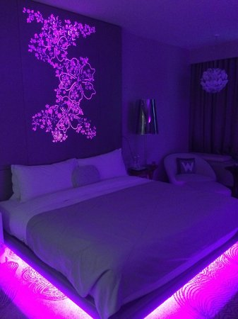 Lighting up the room in purple - Picture of W Singapore - Sentosa ...