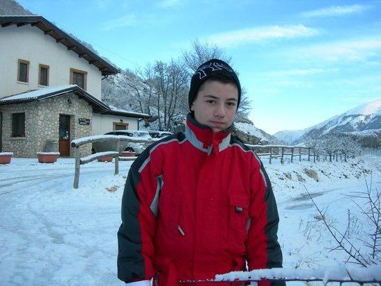 Al Peschio Pizzuto: Gabriele sulla neve del Peschio Pizzuto