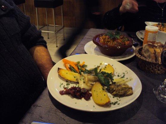 Atelier M Restaurant: les legumes de l'osso bucco de veau
