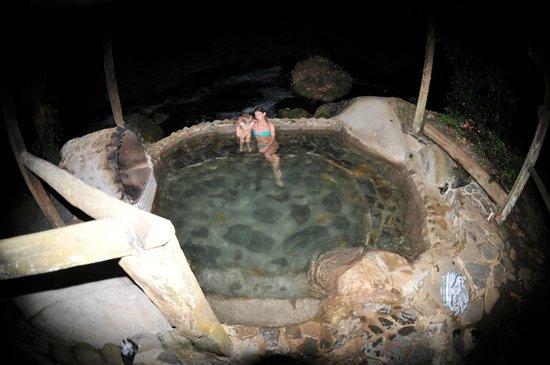 La Carolina Lodge: bain chauffé au feu de bois