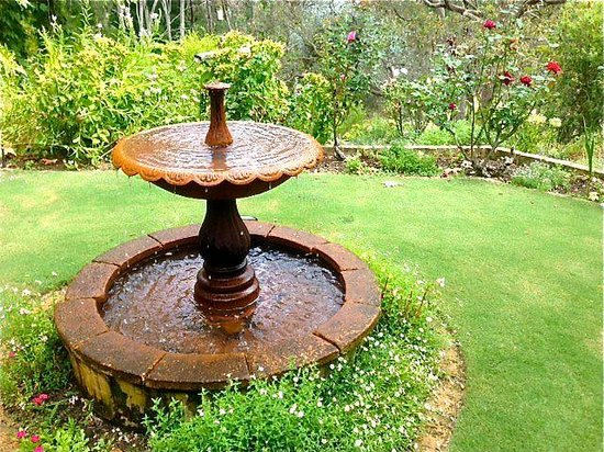 Fountain at Holberry House