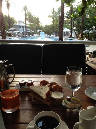 The Raleigh Miami Beach: breakfast by the pool