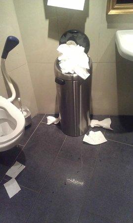 Bolgen & Moi: Toalett som er skittent og papiret flyter