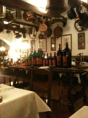 Buca di Sant'Antonio : The restaurant interior