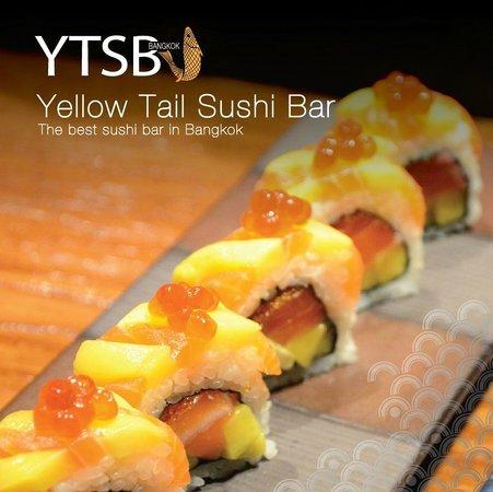 YTSB - Yellow Tail Sushi Bar: YELLOW SPY - Salmon, Mango, Salmon Roe, Avocado with Coconut Sauce