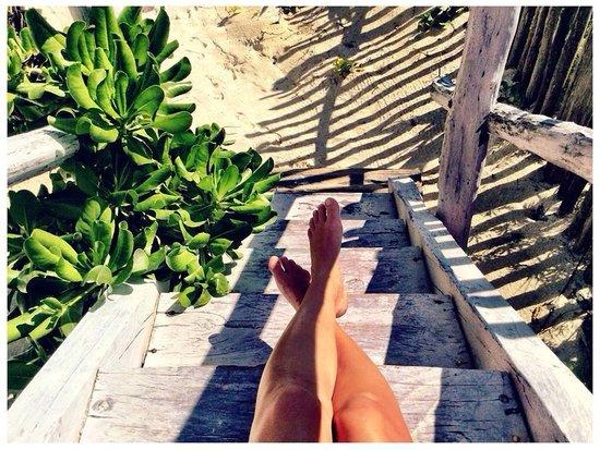 Posada Lamar: Right at the beach @ Rubi