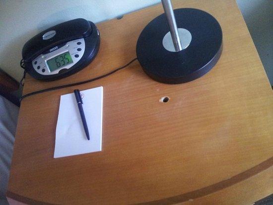 Rydges Camperdown: Holes in tables