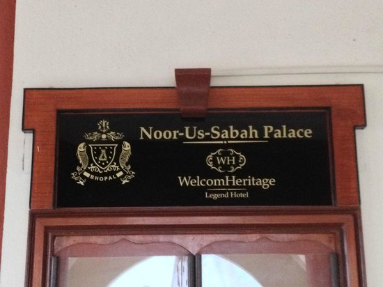 WelcomHeritage Noor Us Sabah Palace : Name Plate of the Hotel