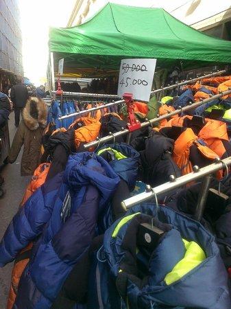 Dongdaemun Market: Jackets for cheap