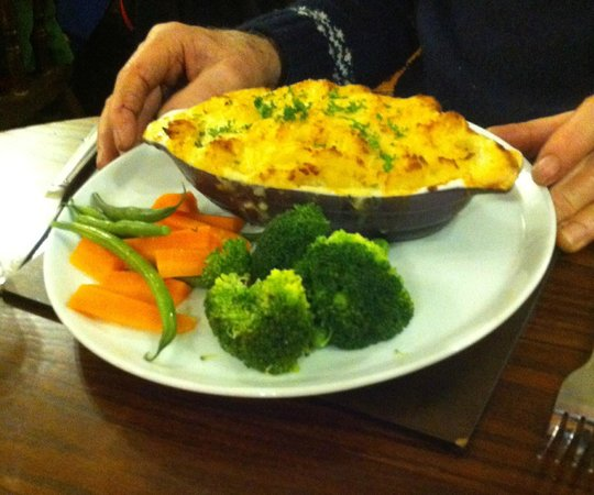 The Strand Bistro : Fish pie with fresh vegetables