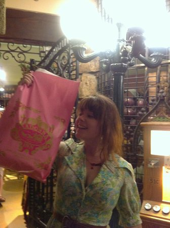 Happy Madonna Inn glasses purchases to come home to London