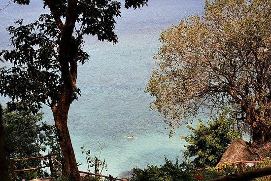 Ling Sabai Bungalows: Blick von Restaurant-Terasse