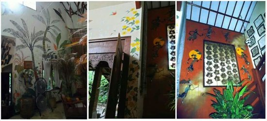 Widayanto Ceramic House: At the artist's gorgeous home - beautiful mural and details!