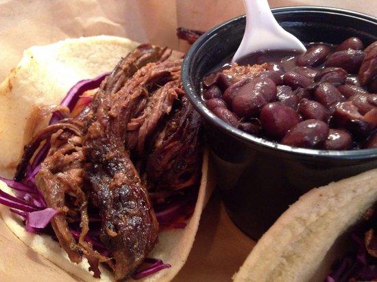 Corner Taco: Brisket Taco, Black Beans