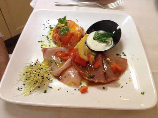 Hotel Dei Giardini: Antipasto di pesce...non saprei come descriverlo...eccezionale!!