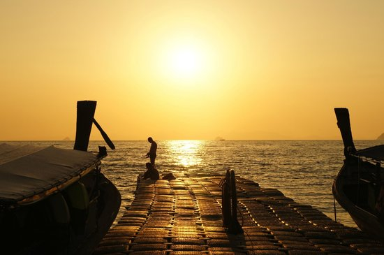 Krabi Cha-Da Resort: Закат Ао Нанг
