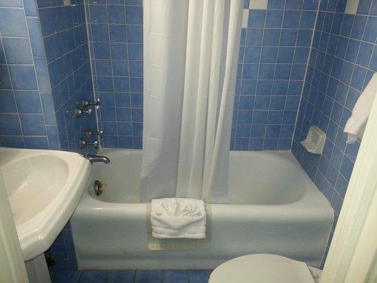 Hotel Edison Times Square : Salle de bain exiguë et sale