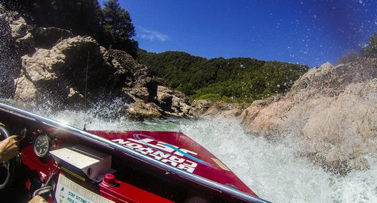 Buller Canyon Jet: Heading back from the rapids
