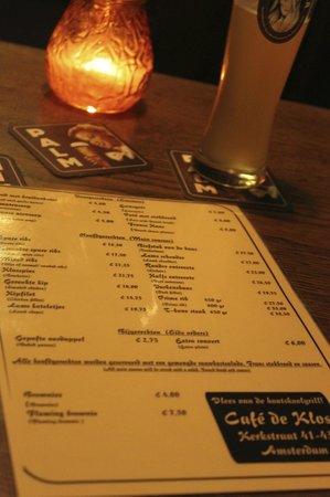 Cafe de Klos : Karte