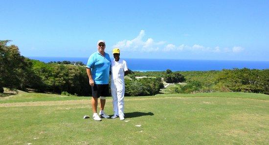 White Witch Golf Club: My husband with Ranesha