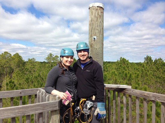 Adventures Unlimited Outdoor Center and Resort : The view from the back half of the zip lining tour!