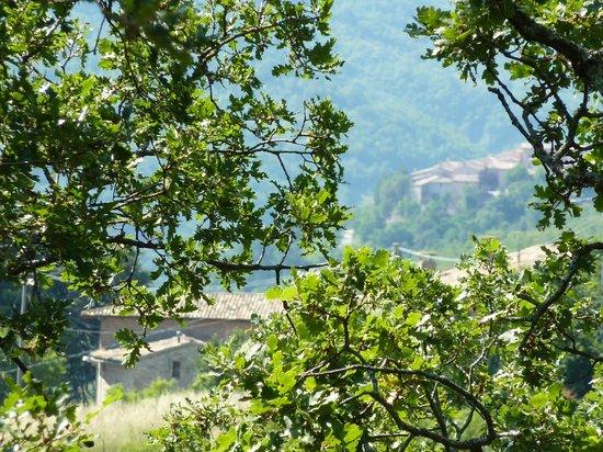 B&B Il Sentiero di Armenzano: Veduta di Nottiano e San GIovanni di Spello