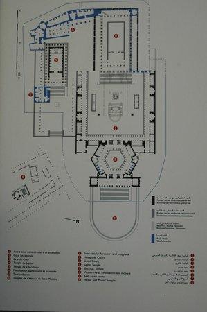 Baalbeck, Libanon: plan du site Baalbek