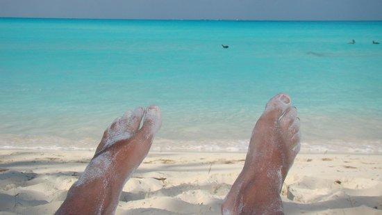 Playa Paraiso : Foto tomada a las 8:00 de la mañana. Solo el mar y yo.
