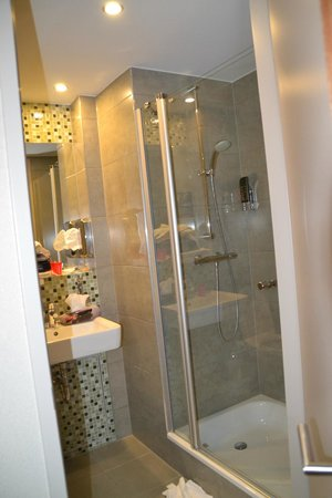 "MEININGER Hotel Amsterdam City West: ""given as an adapted room"" shower is so high that you can not shower"