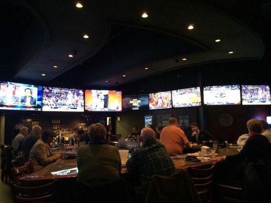 Nice Hooley House Sports Pub U0026 Grille: View Of The Large Bar Area U0026 Many TV