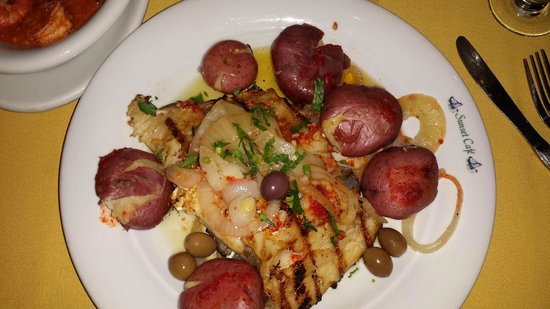 Sunset Cafe Restaurant: Bacalhau a Sunset Cafe